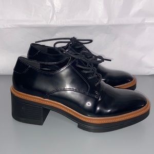 Zara Derby Platform Oxford Shoe size 7